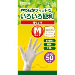 脱タンパク天然ゴム極うす手袋 50枚入